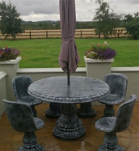 how many seats 48 round table round 48 quot table with 4 classic seats wexford stone crafts