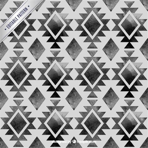 black and white hand pattern hand painted black ethnic pattern vector free download