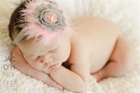 baby pink feather headband hair bows soft pink gray feather and flower newborn headband newborn