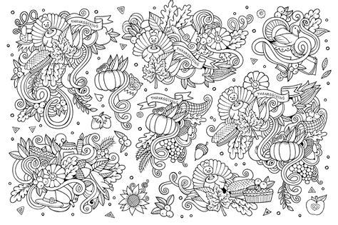 turkey doodle coloring page thanksgiving doodle 3 par olga kostenko thanksgiving