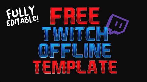 Free Star Wars Battlefront Twitch Offline Banner Template Psd Youtube Twitch Offline Banner Template