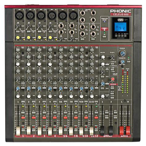 table de mixage enregistreur phonic celeus 600 mixeur analogique avec enregistreur usb