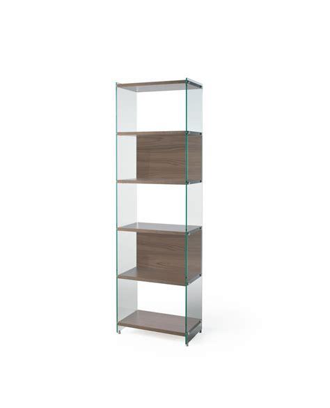 libreria vetro libreria byblos a colonna in legno e vetro 202 cm