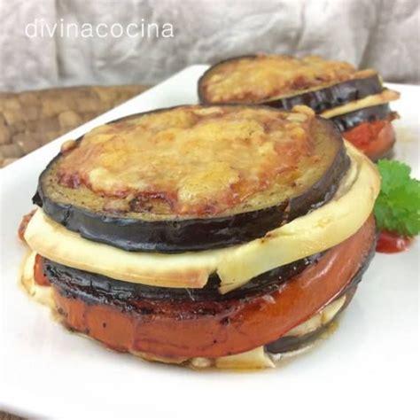 divina cocina recetas receta de milhojas de berenjena y queso cocina facil