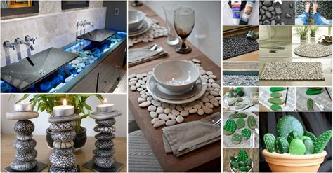 handicraft ideas home decorating diy unimaginable stone craft home decor ideas that will