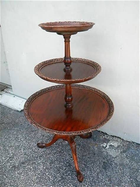 three tier table antique mahogany three tiered side table antiques galore