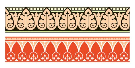 arabic pattern border vector ornament borders bing gallery
