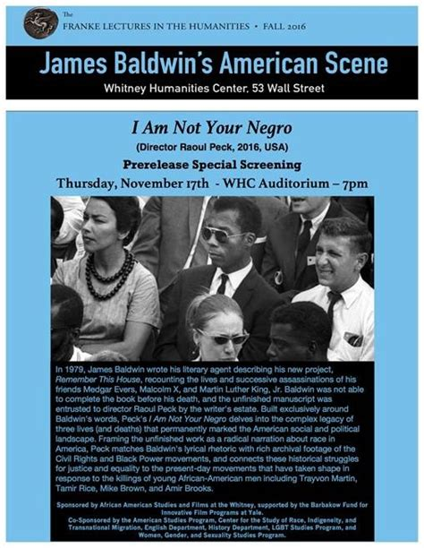 entertainment movie i am not your negro 2016 film screeninig i am not your negro department of african american studies