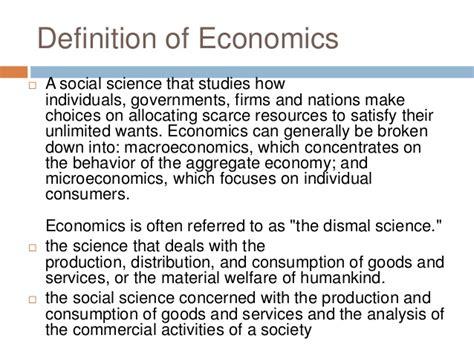 image gallery economics definition