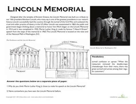 biography of abraham lincoln for third graders lincoln worksheets and printables on pinterest