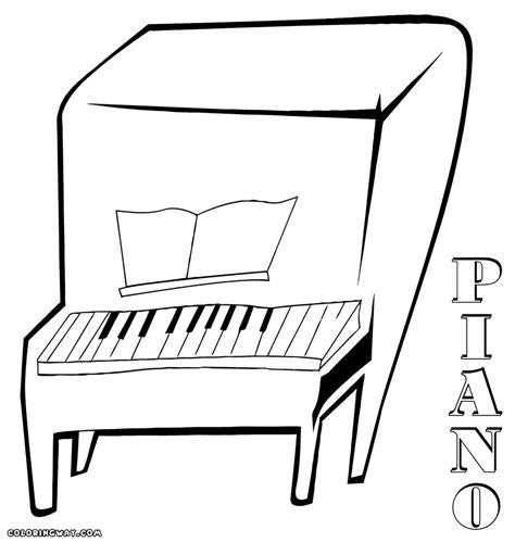coloring page piano coloring pages coloring pages to and print