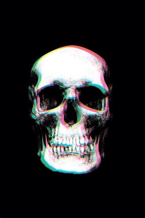 skull wallpaper  dark image cranios coloridos arte