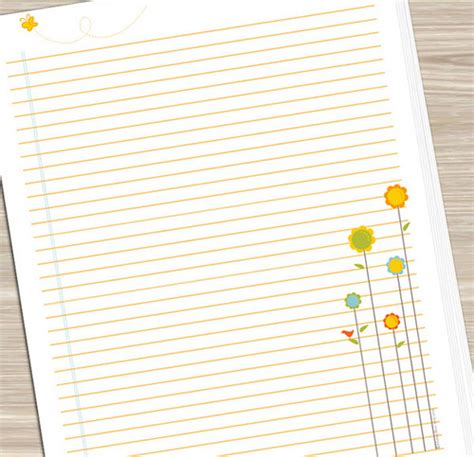printable owl note paper 7 best images of printable owl notebook paper free