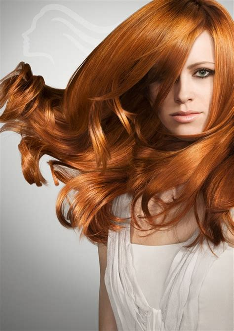 wella hairstyles a long red hairstyle from the wella collection no 19115
