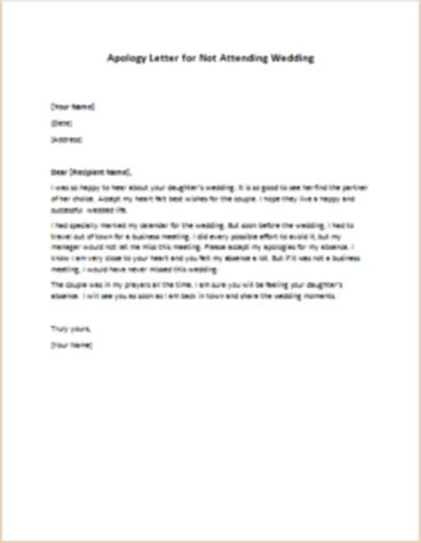 Apology Letter Not Attending Apology Letter For Not Attending Wedding Writeletter2