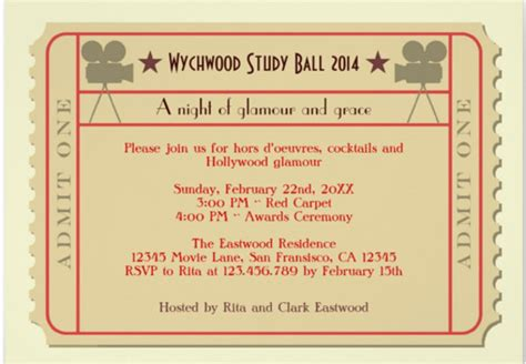Award Ceremony Letter ticket invitation template free printable