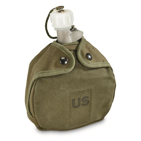 Useful Commemorative Us Army Plastic Aluminum Canvas Cover Black u s surplus arctic canteen with cover 698685 canteens hydration at sportsman s guide