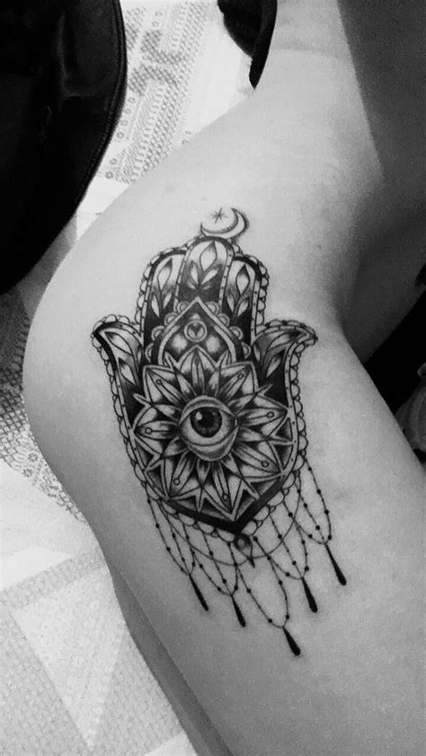 hamsa hand thigh tattoo tatts4babes pinterest tattoo