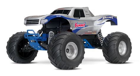 bigfoot summit monster traxxas bigfoot the original monster truck summit silver