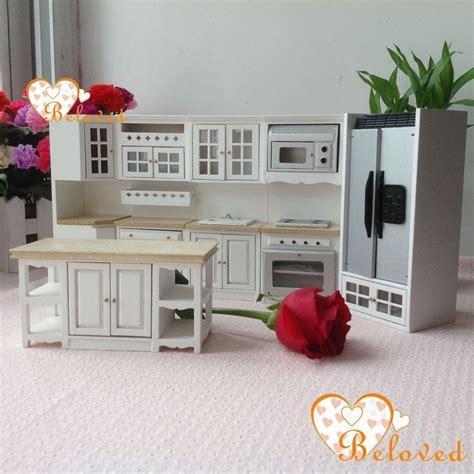 wooden kitchen furniture bl 1 12 dollhouse miniature diy furniture wood oak kitchen
