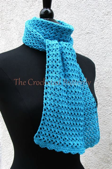 Handmade Scarf Patterns - crochet pattern v stitch scarf crochet s