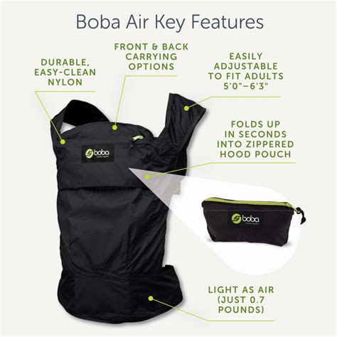 Boba Air The Lightest Carrier Gray boba air baby carrier grey baby