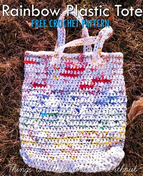 crochet pattern plastic bag tote 11 best images about made with plastic bags on pinterest