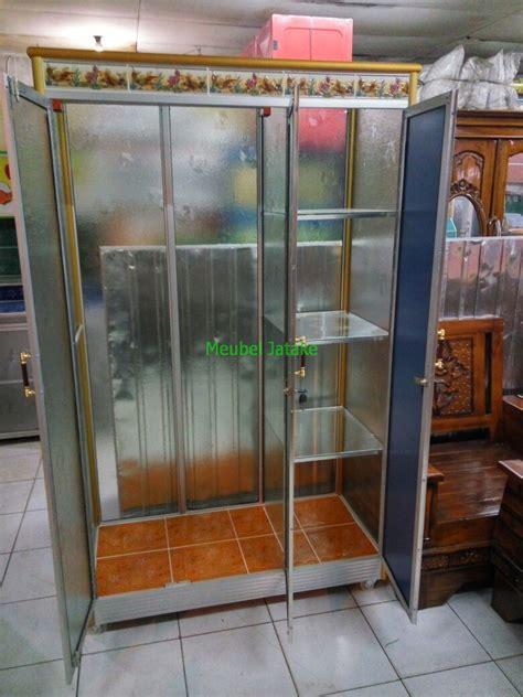 Lemari Kaca Aluminium Di Jogja jual lemari pakaian 3 pintu kaca transparan cermin