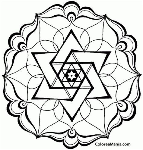 imagenes abstractas geometricas faciles colorear mandala abstracto mandalas dibujo para