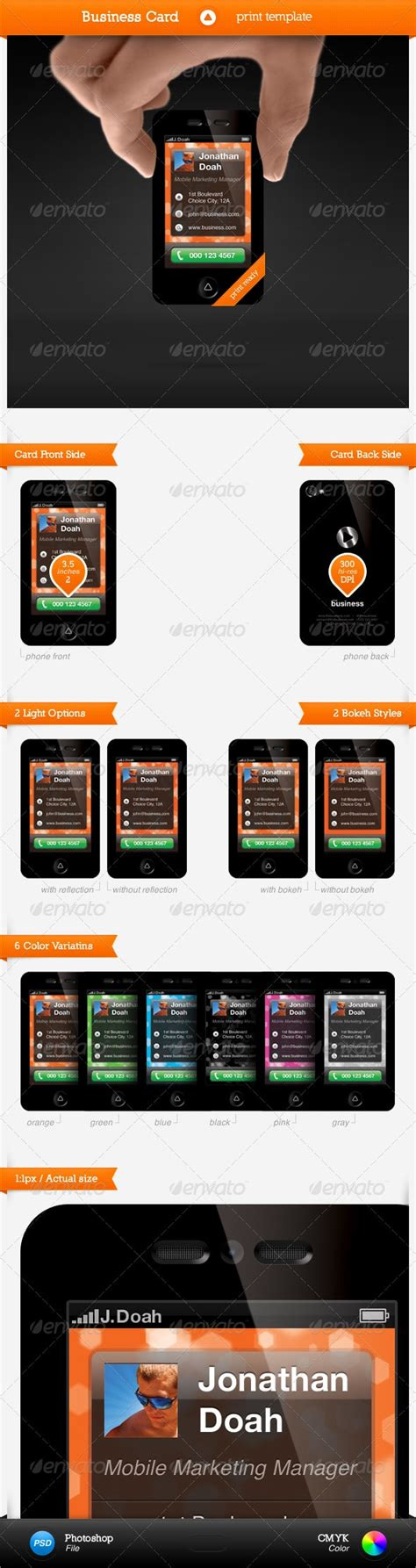 Smartphone Business Card Template 25 best business card templates photoshop designs 2017