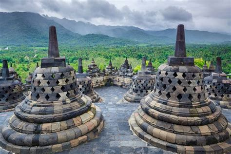 magnificent ancient buddhist temple  borobudur