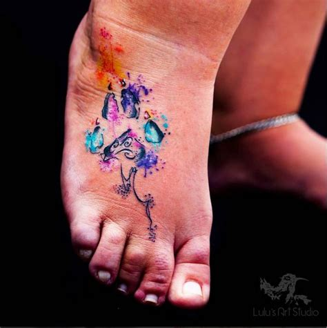 small girly foot tattoos 155 best images about paw tattoos on ankle