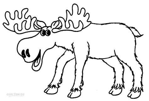 Coloring Pages Moose printable moose coloring pages for cool2bkids