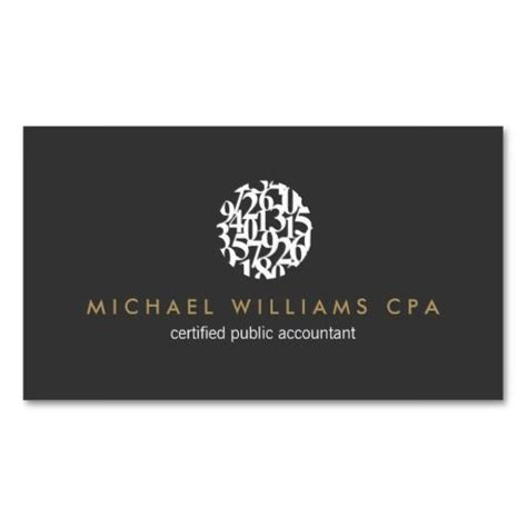modern accountant accounting business card template with