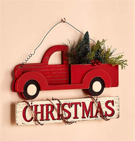red christmas vintage pick ups for sale truck decor finds southern made simple