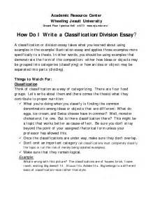 Classification Essay Samples Division And Classification Essay On Holidays Example