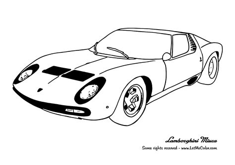car coloring pages to download and print for free