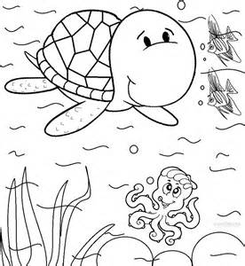 sea coloring pages printable sea turtle coloring pages