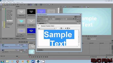 how to do clone effect in sony vegas pro 11 best tutorial sony vegas how to add transparent text or image youtube