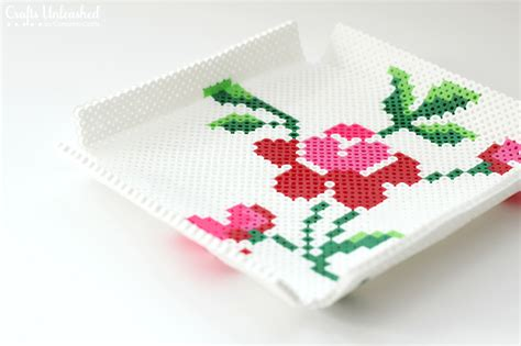 perler s day flower tray tutorial