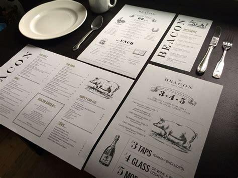 beacon public house art of the menu the beacon public house