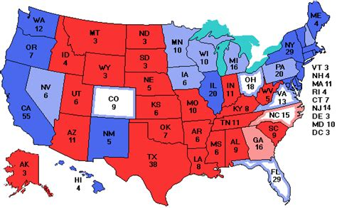 united states map with electoral votes electoralvote