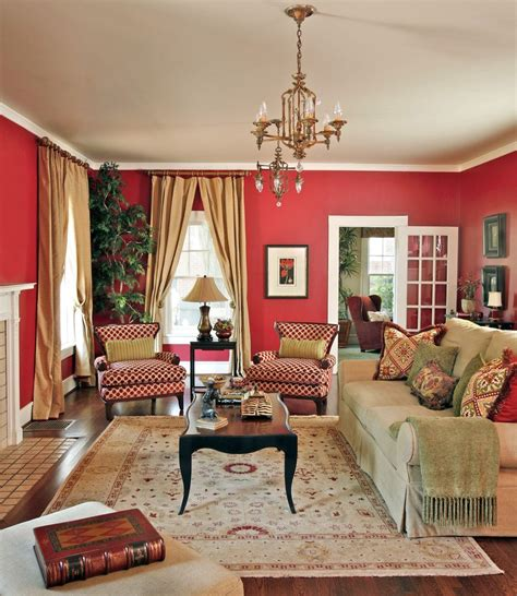 Red Living Room Walls | red living rooms design ideas decorations photos