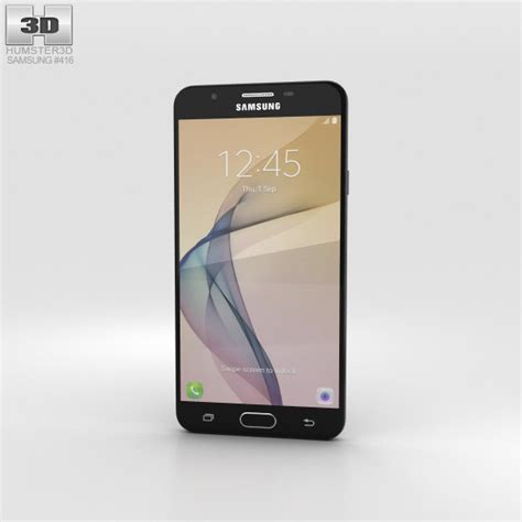Custom 3d For Samsung J7 2016 samsung galaxy j7 prime black 3d model hum3d