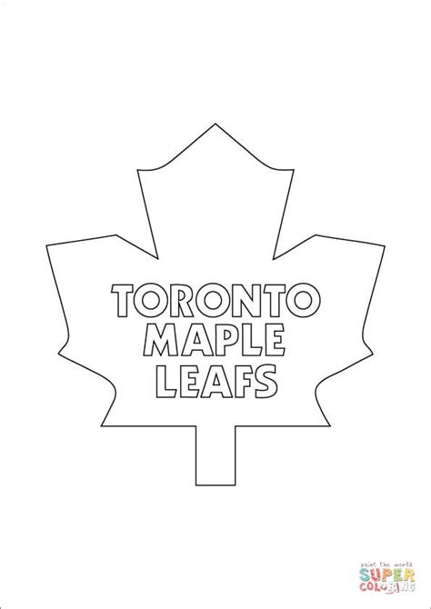 toronto maple leafs logo coloring page free printable