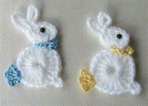 Crochet bunny rabbit applique crochet appliques pinterest my