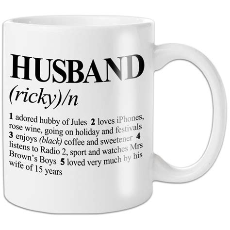 dictionary definition personalised husband mug find me a