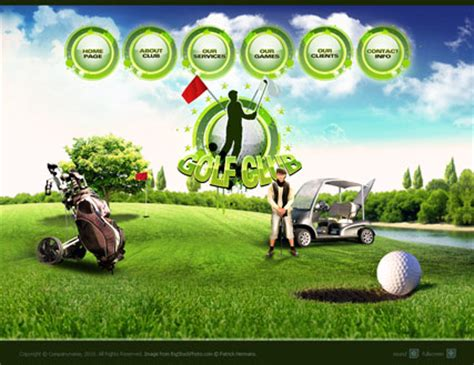 Golf Club Flash Website Template Best Website Templates Golf Website Template Free