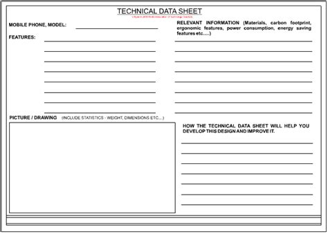 Product Data Sheet Template by Technical Data Sheet Page 2