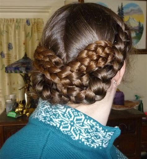 1860s hairstyles inspired by an 1860s hairstyle four braids woven